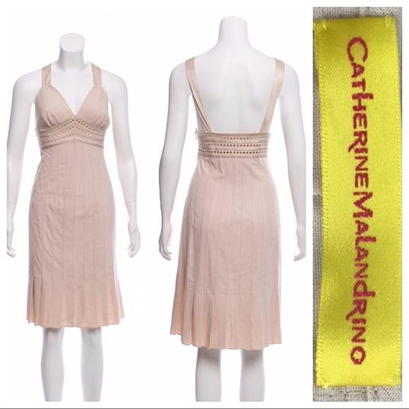 Catherine Malandrino Dresses & Skirts - 🛍 Catherine Malandrino Champagne Pleated Dress 6